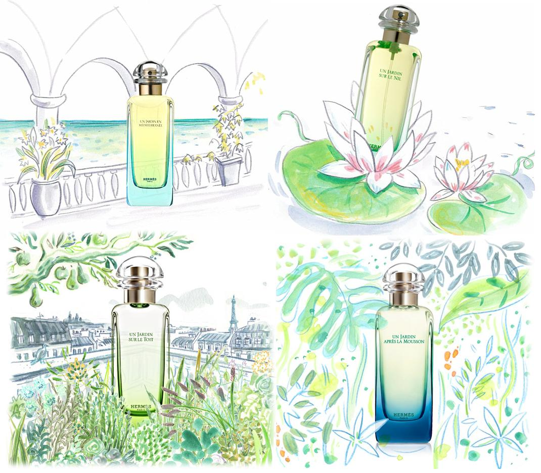 hermes 39 un jardin collection scentbird perfume and. Black Bedroom Furniture Sets. Home Design Ideas