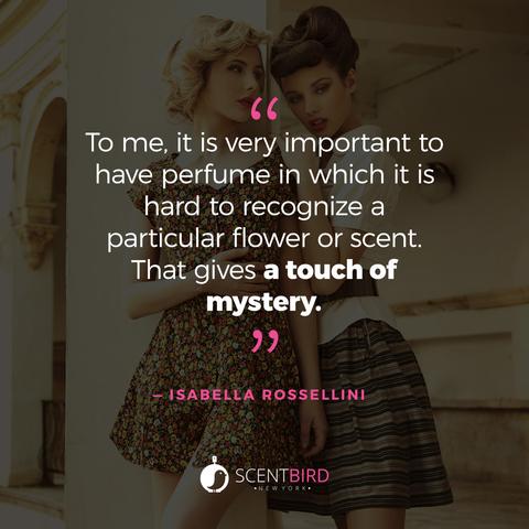 Isabella Rossellini Perfume Quote